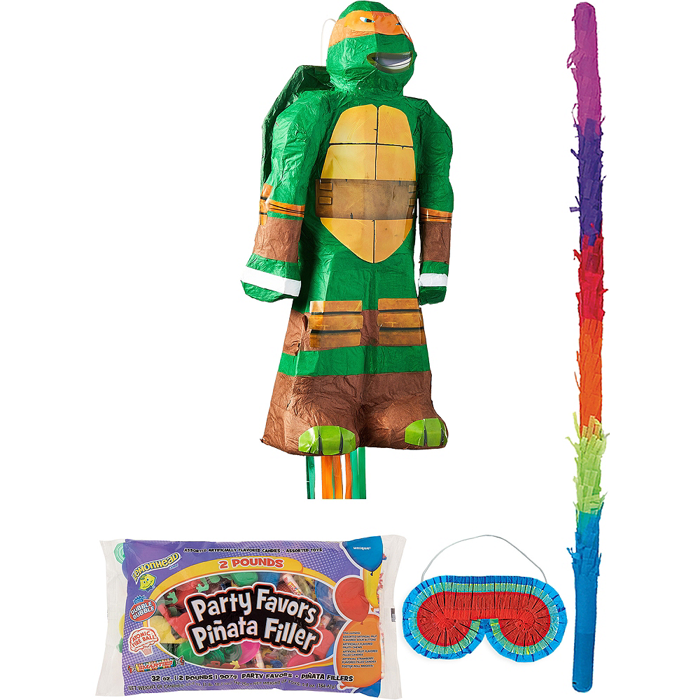 Michelangelo Pinata Kit with Candy & Favors - Teenage Mutant Ninja Turtles Image #1
