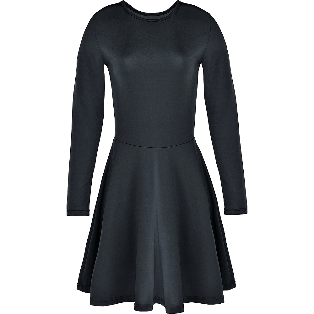 Womens Black Flare Dress Image #2