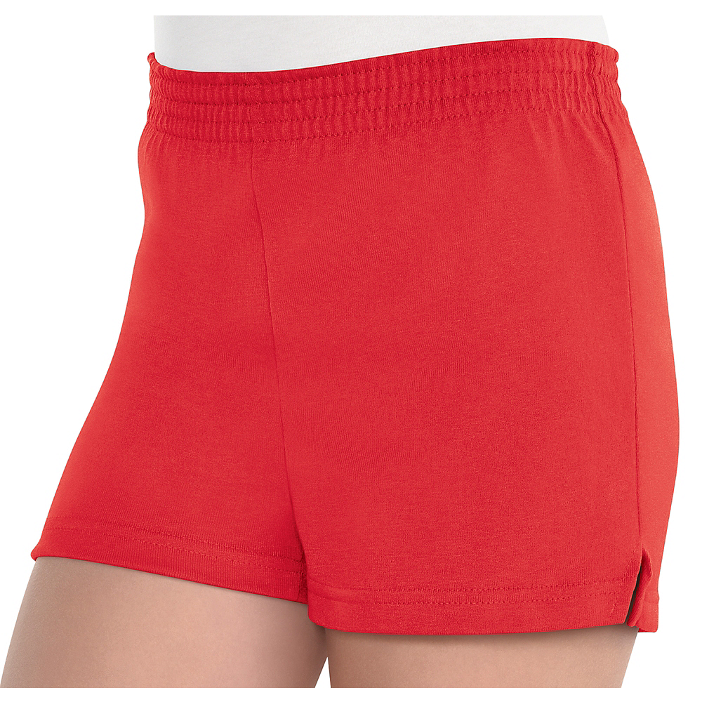 Girls Red Sport Shorts Image #1