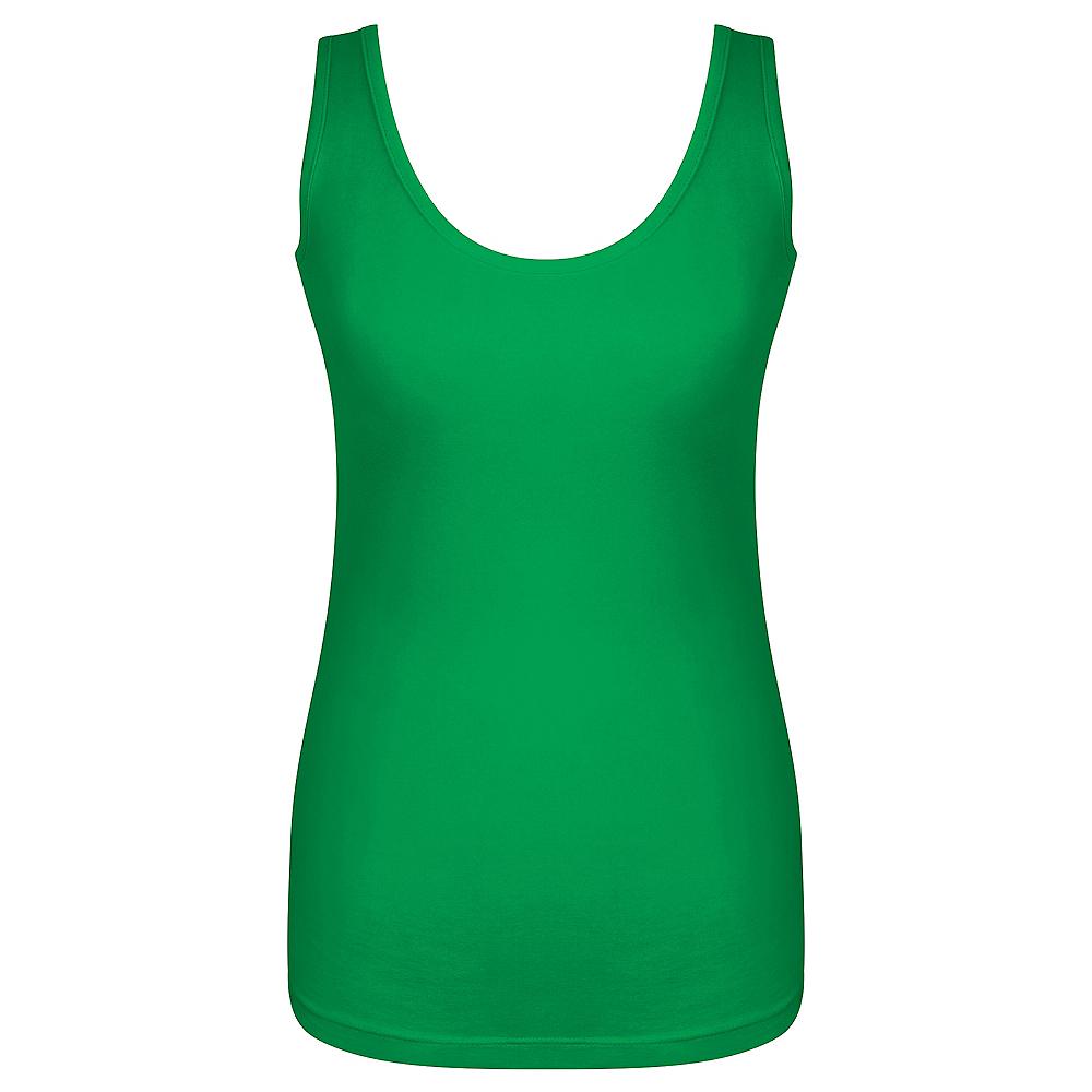 Womens Green Tank Top Image #1