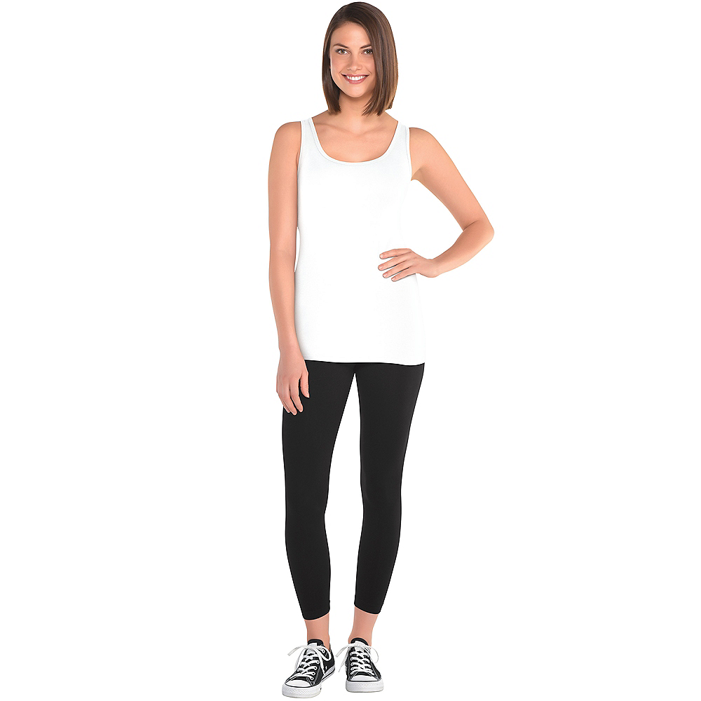 Nav Item for Womens White Tank Top Image #2