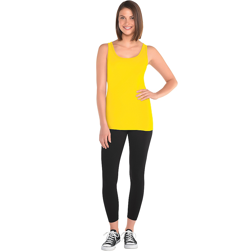 Womens Yellow Tank Top Image #2