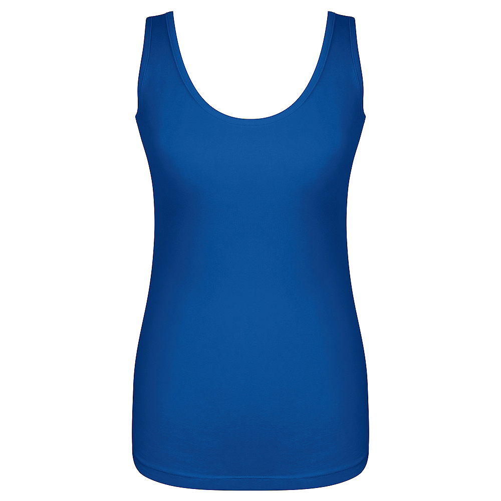 Nav Item for Womens Blue Tank Top Image #1
