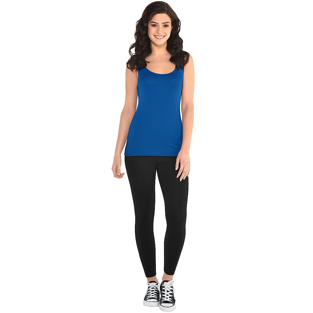 Nav Item for Womens Blue Tank Top Image #2