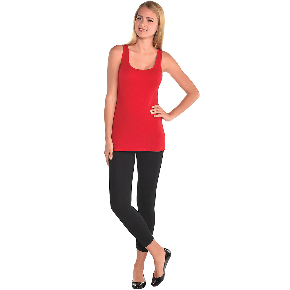 Womens Red Tank Top Image #2