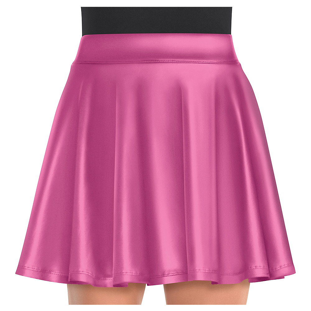 Womens Pink Flare Skirt Image #1