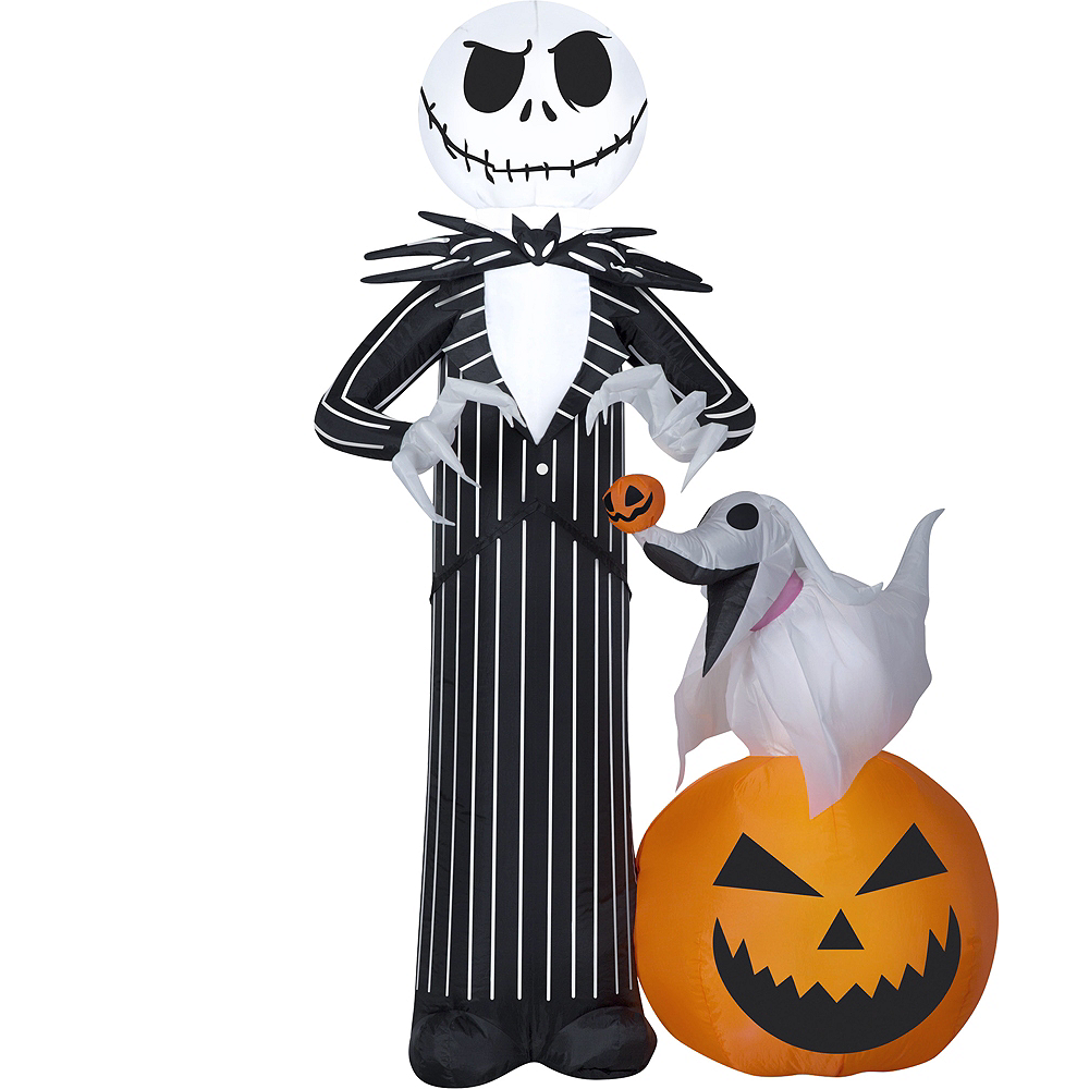 light up inflatable jack skellington the nightmare before christmas image 1