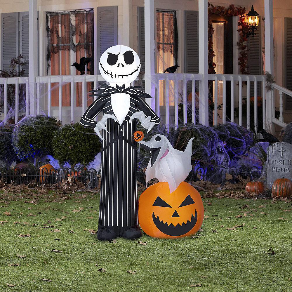 light up inflatable jack skellington the nightmare before christmas image 2 - Nightmare Before Christmas Inflatable Lawn Decorations