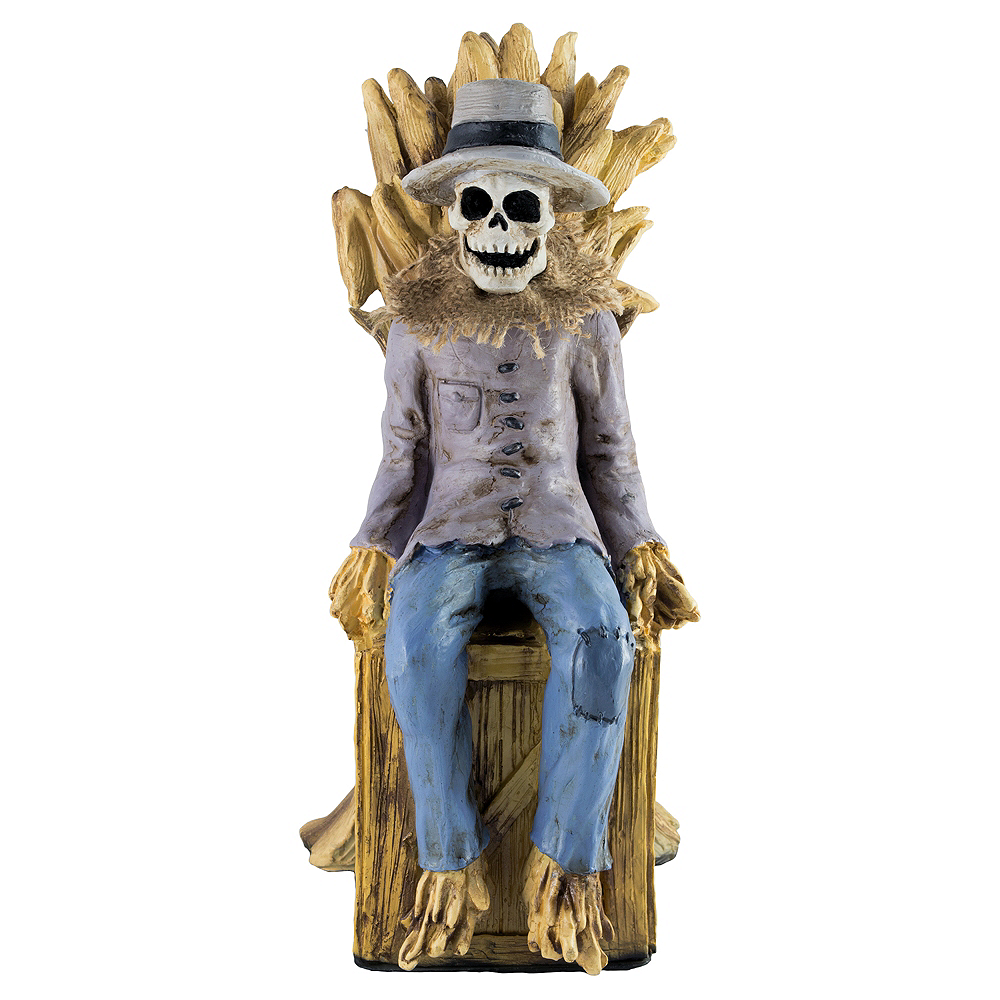 Animated Sitting Scarecrow Image #2