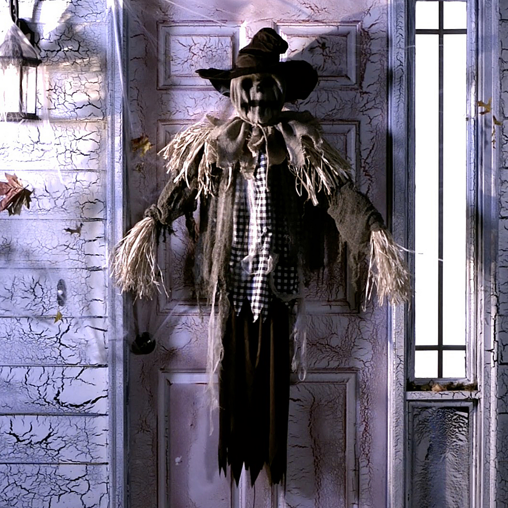 Animated Hanging Scarecrow Image #1
