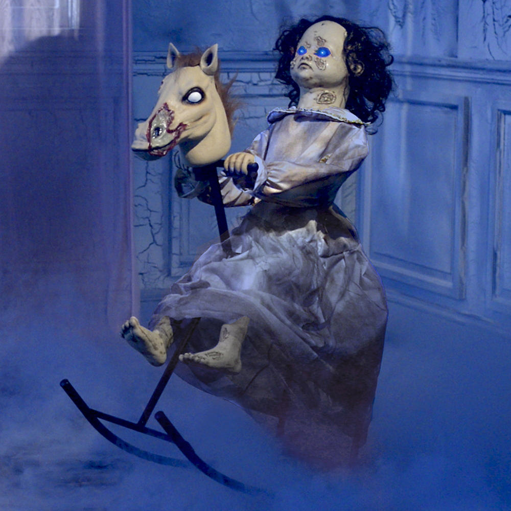 animated rocking horse girl image 1