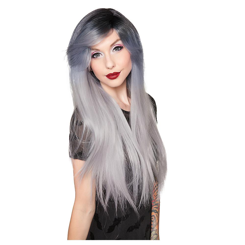 Dark Root Silver Wig Image #1