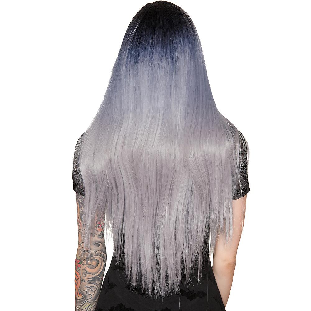 Dark Root Silver Wig Image #3