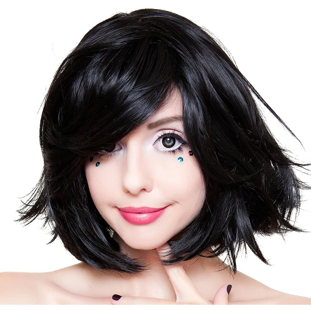 Stylish Short Black Wig Image #1