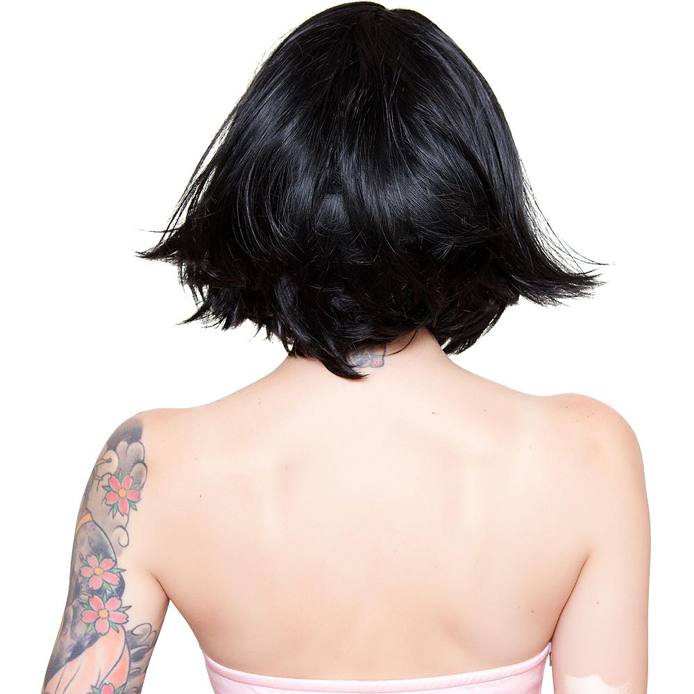 Stylish Short Black Wig Image #3