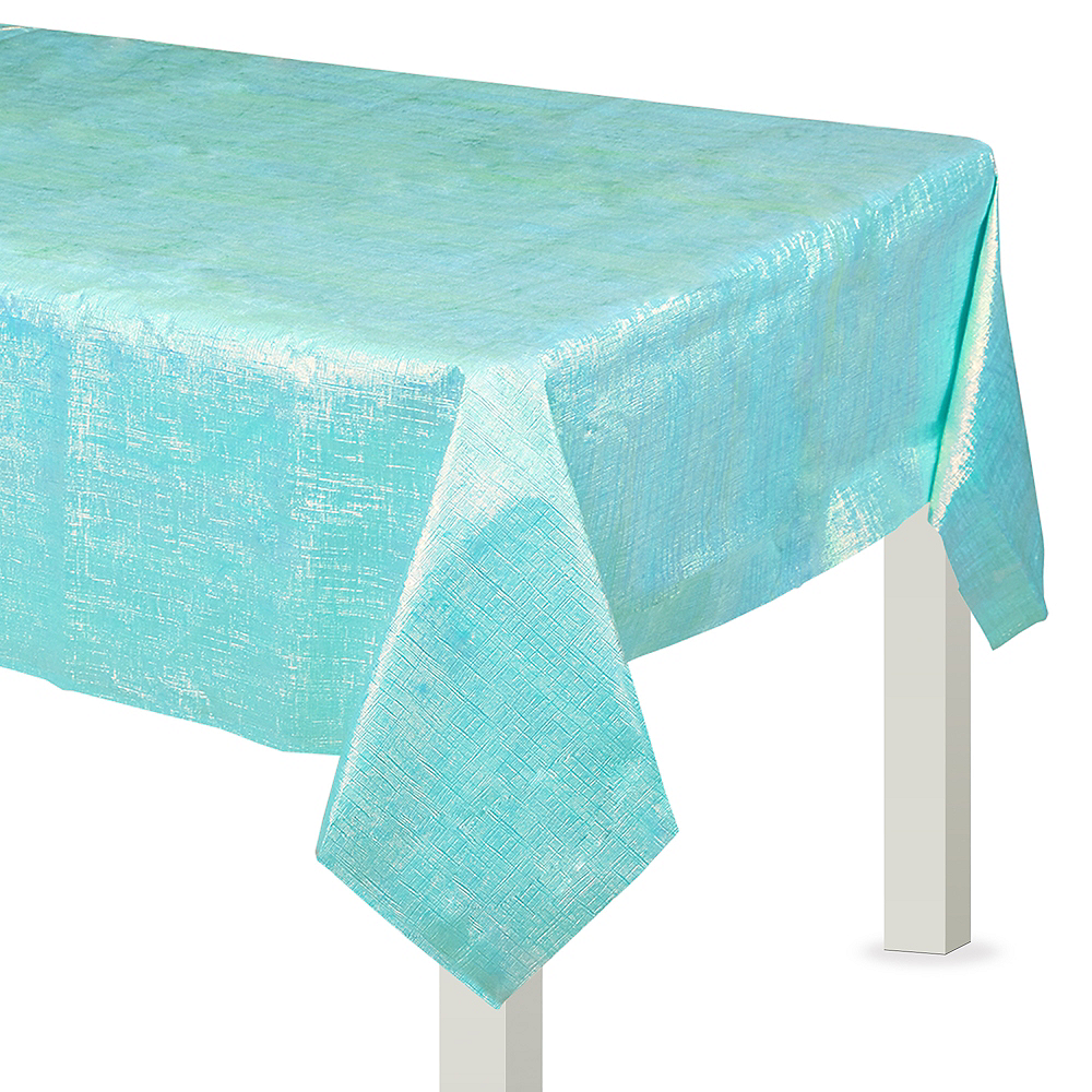 Robin's Egg Blue Opalescent Table Cover Image #1