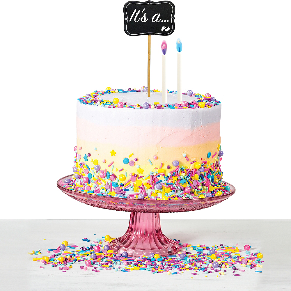 Gender Reveal Cake Topper Kit Image 1
