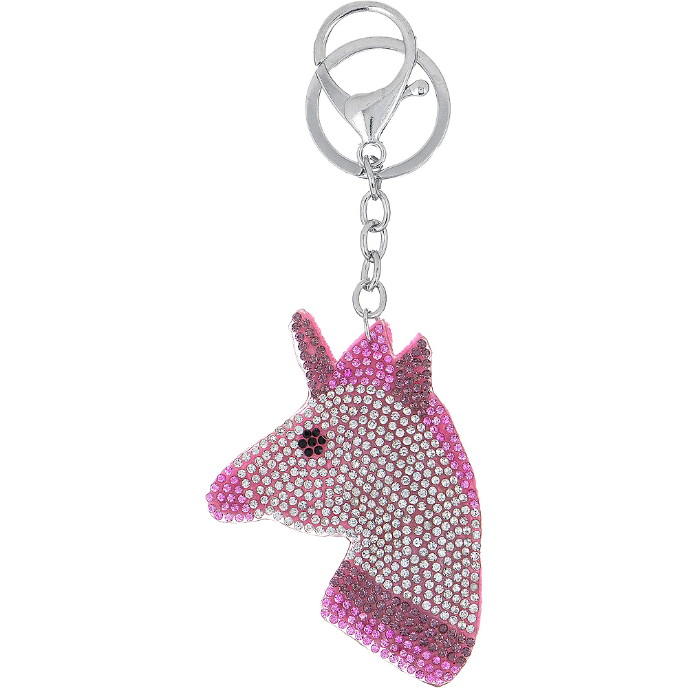 Rhinestone Unicorn Keychain Image #1