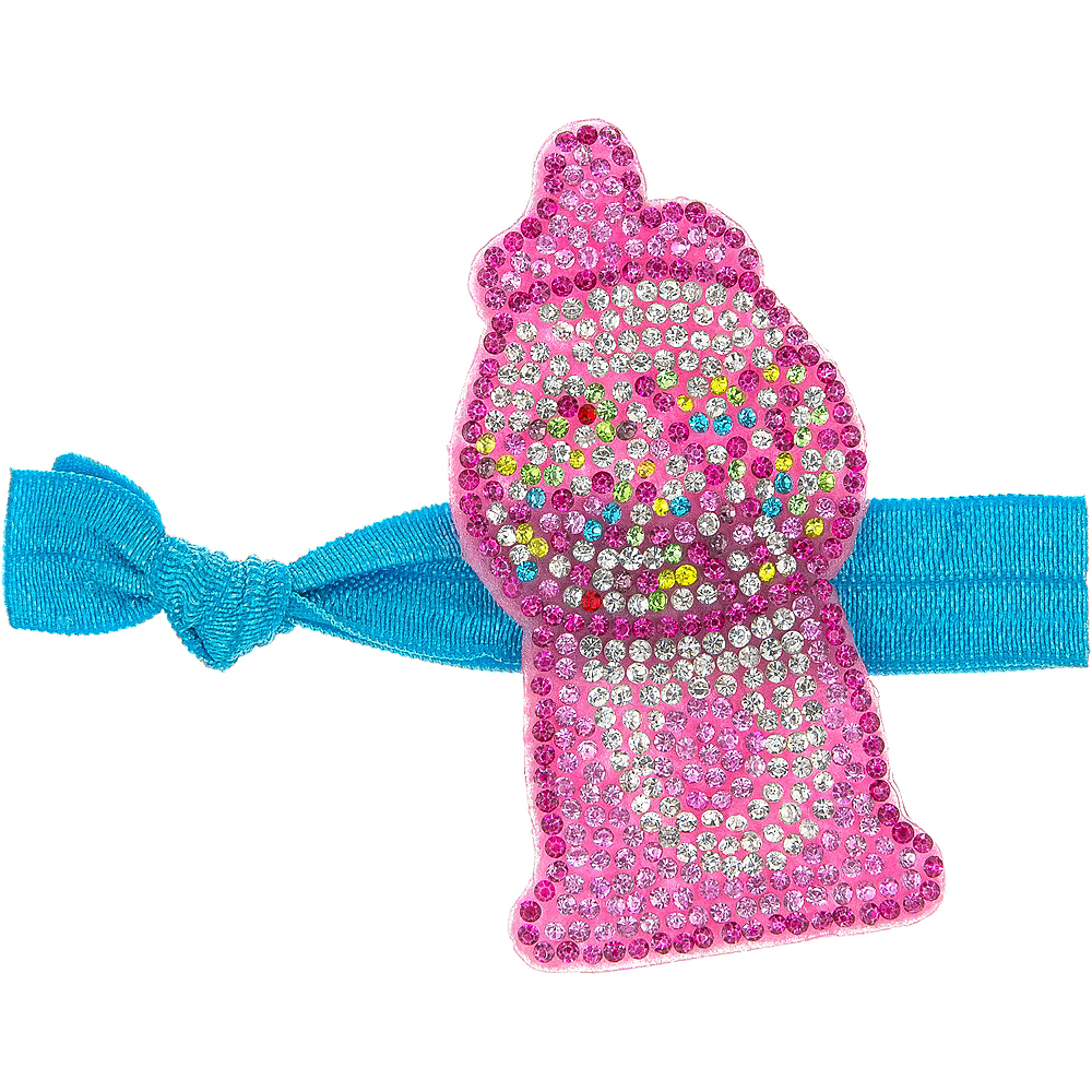 Rhinestone Gumball Machine Ribbon Hair Tie Image #1