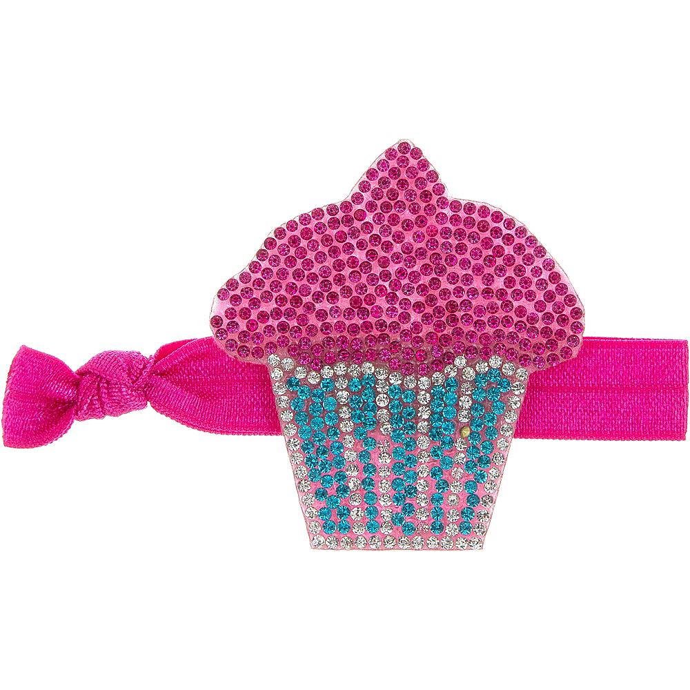 Rhinestone Cupcake Ribbon Hair Tie Image #1