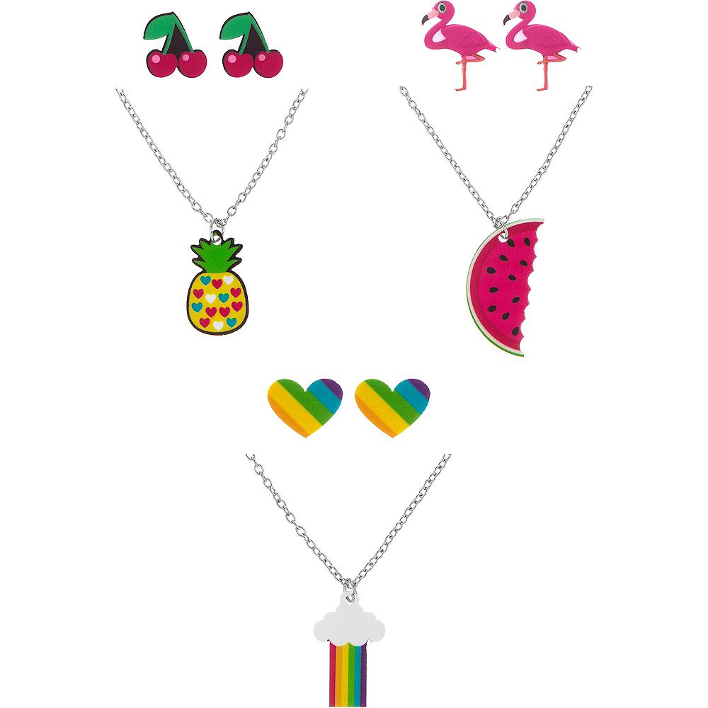 Pineapple, Rainbow, & Watermelon Jewelry Sets 3ct Image #1