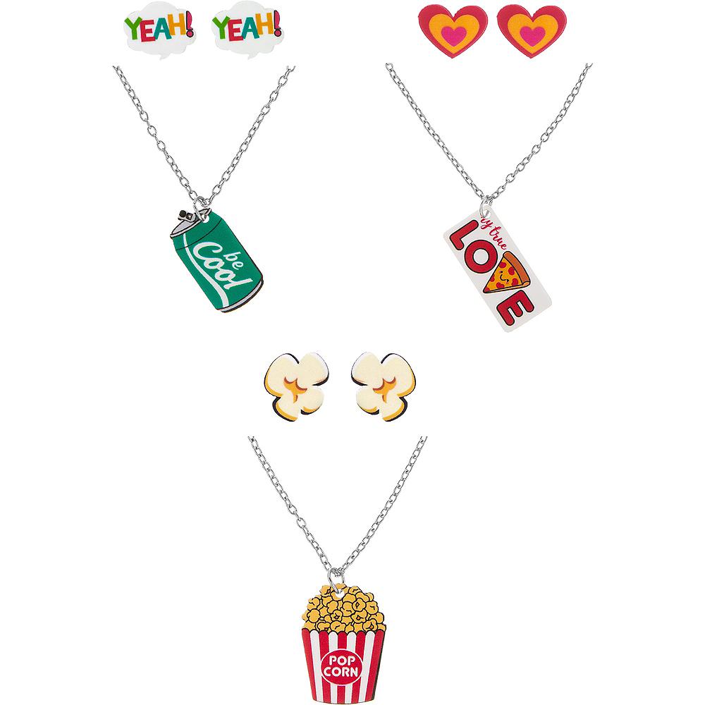 Pizza, Popcorn, & Soda Jewelry Sets 3ct Image #1