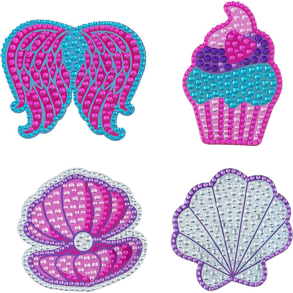 Rhinestone Cupcake & Seashell Stickers 1 Sheet Image #1