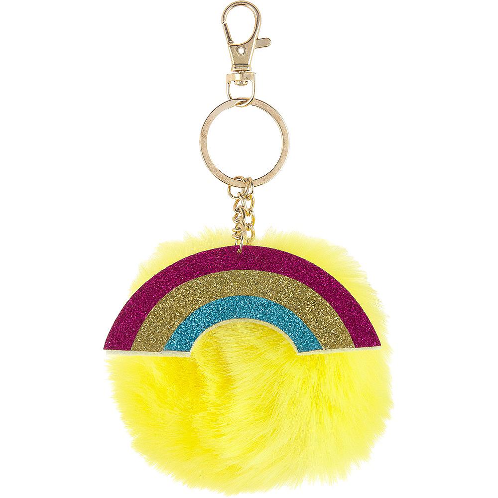 Glitter Rainbow & Pom-Pom Keychain Image #1