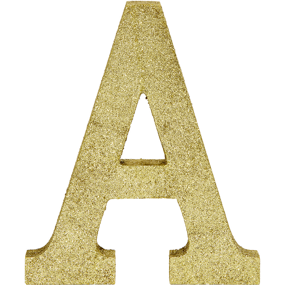 Glitter Gold Letter A Sign Image #1