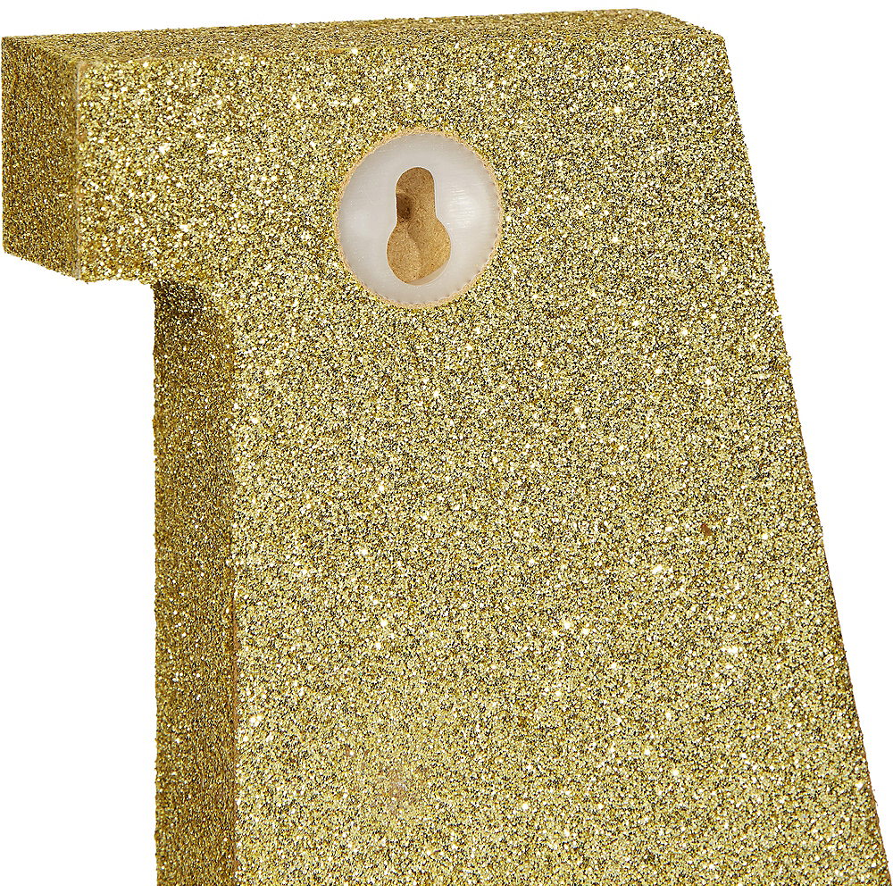 Glitter Gold Letter E Sign Image #2