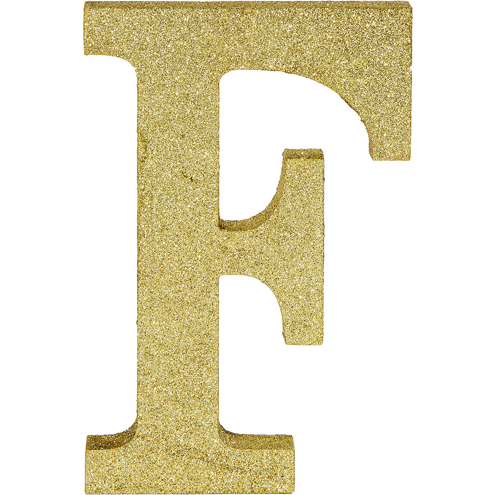 Glitter Gold Letter F Sign Image #1