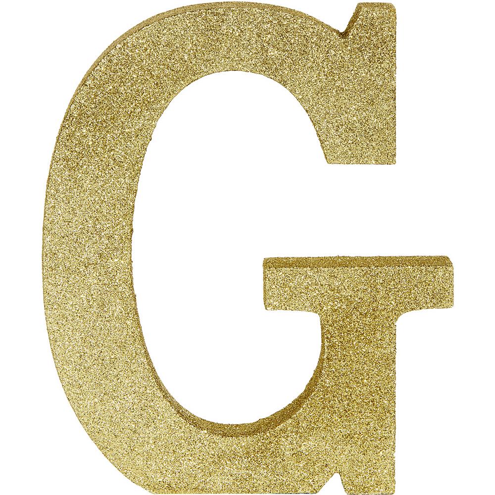 Glitter Gold Letter G Sign Image #1