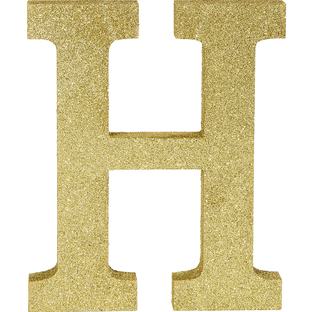 Glitter Gold Letter H Sign Image #1