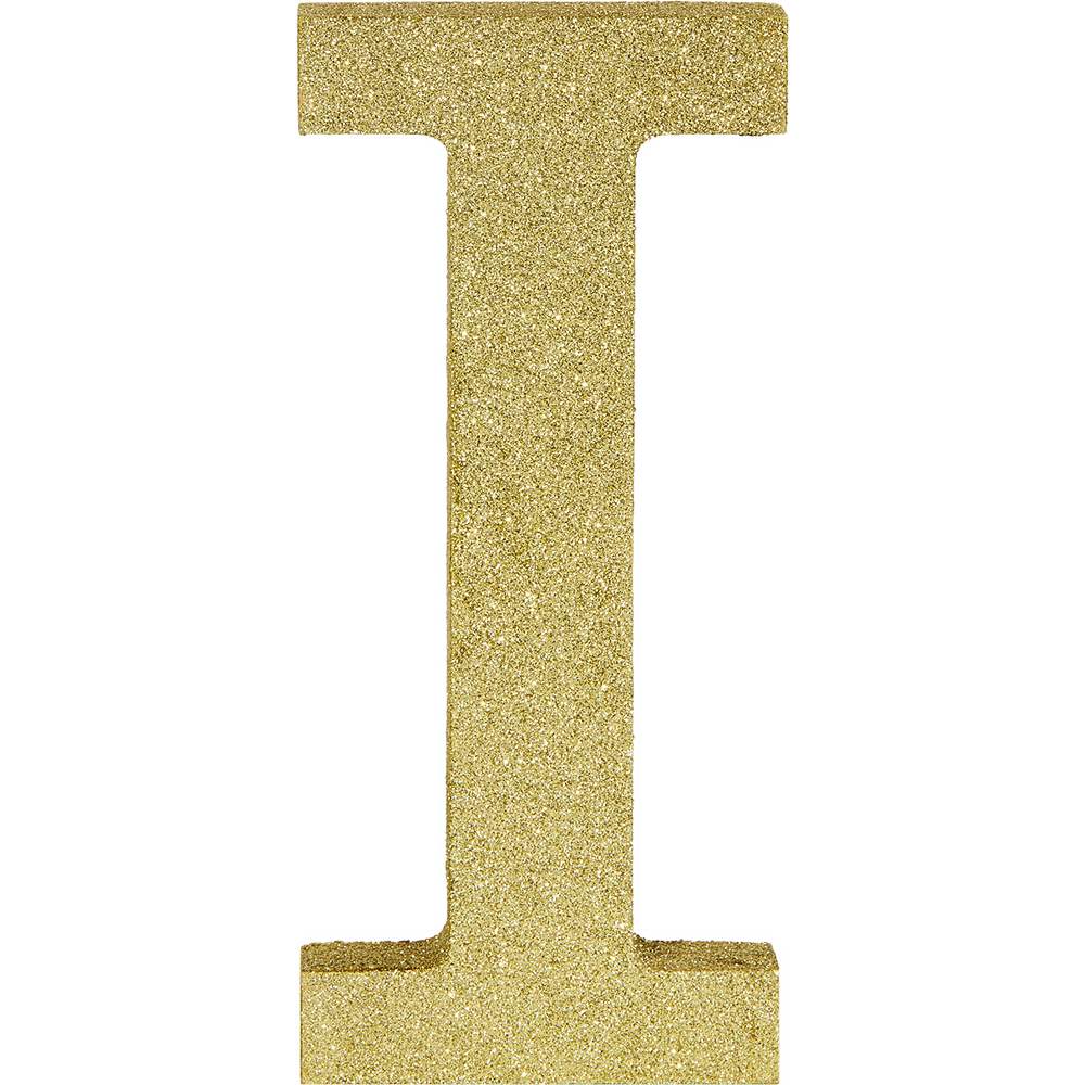 Glitter Gold Letter I Sign Image #1