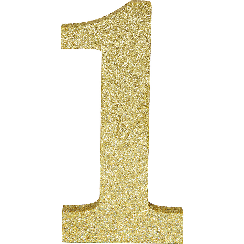 Glitter Gold Number 1 Sign Image #1