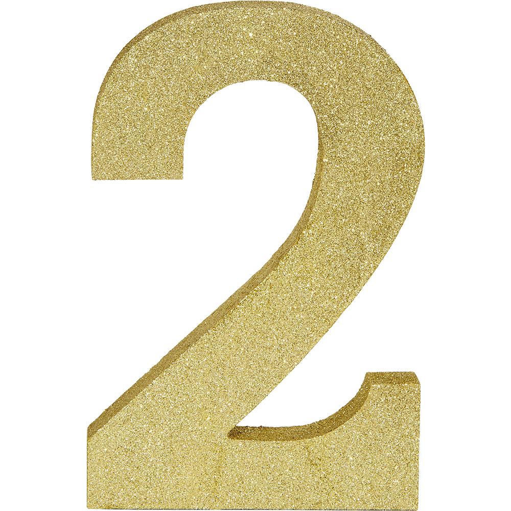 Glitter Gold Number 2 Sign Image #1