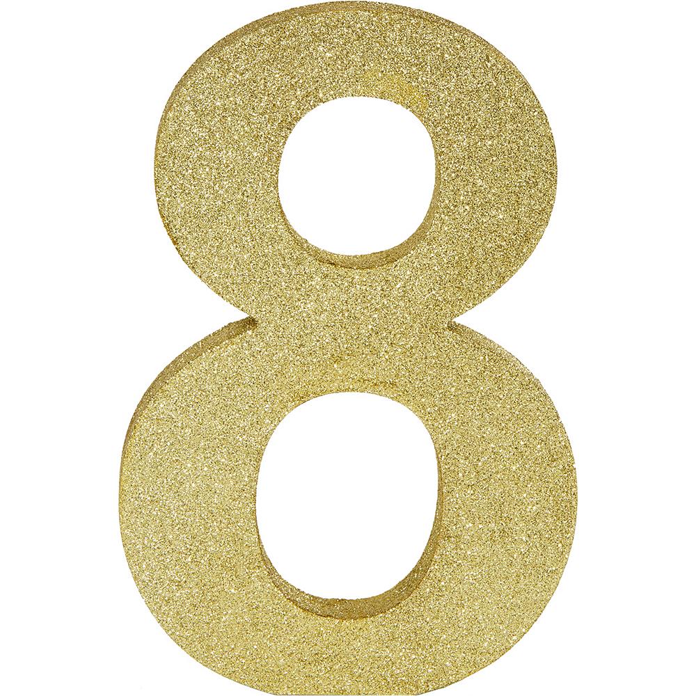 Glitter Gold Number 8 Sign Image #1