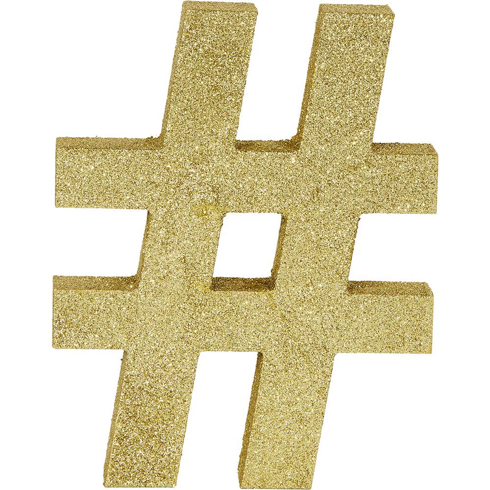 Glitter Gold # Symbol Sign Image #1