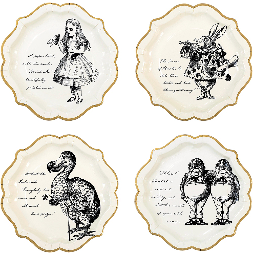 Alice in Wonderland Lunch Plates 12ct Image #1