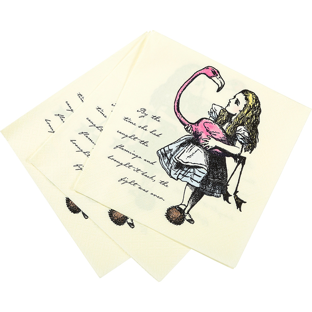 Nav Item for Alice in Wonderland Lunch Napkins 20ct Image #2