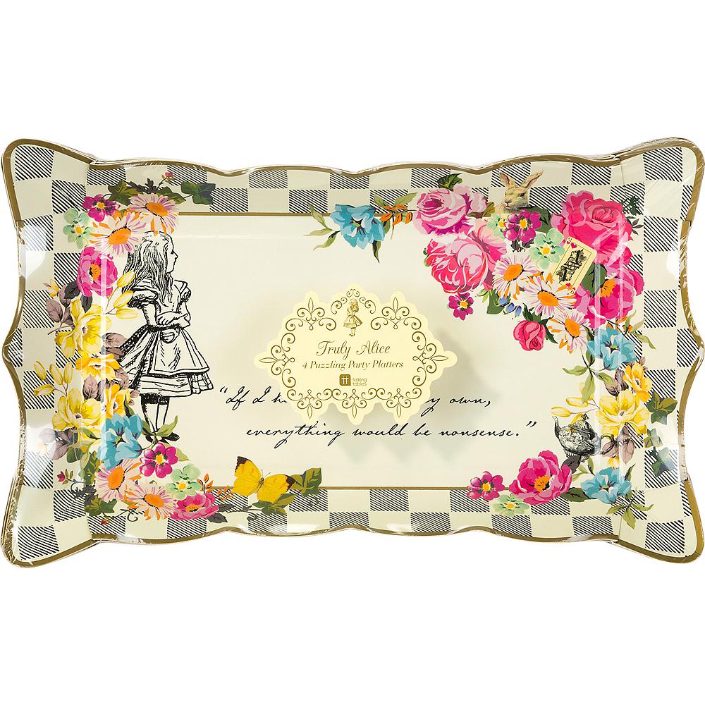 Alice in Wonderland Rectangular Platters 4ct Image #2