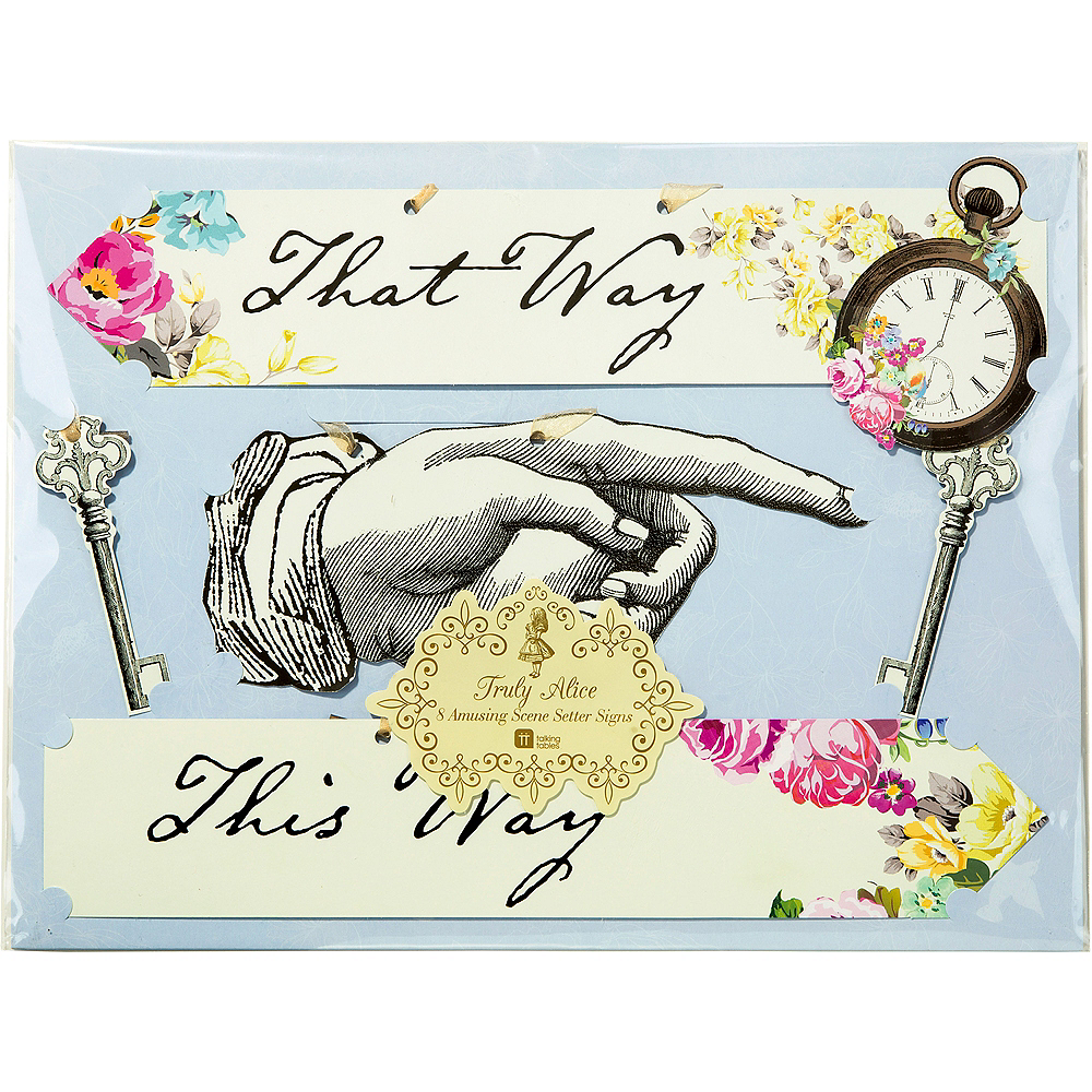 Alice in Wonderland Signs 8ct Image #4