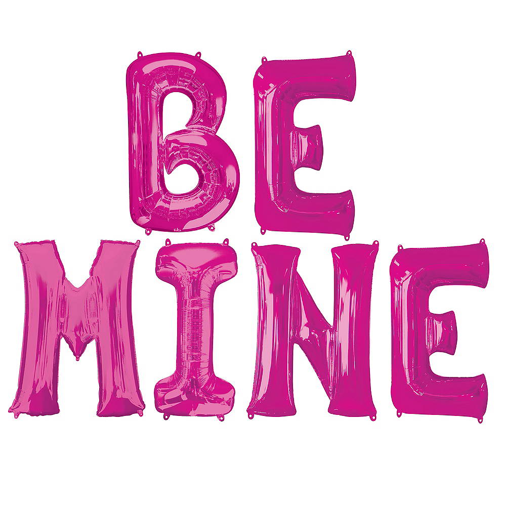 Giant Pink Be Mine Letter Balloon Kit Image #1