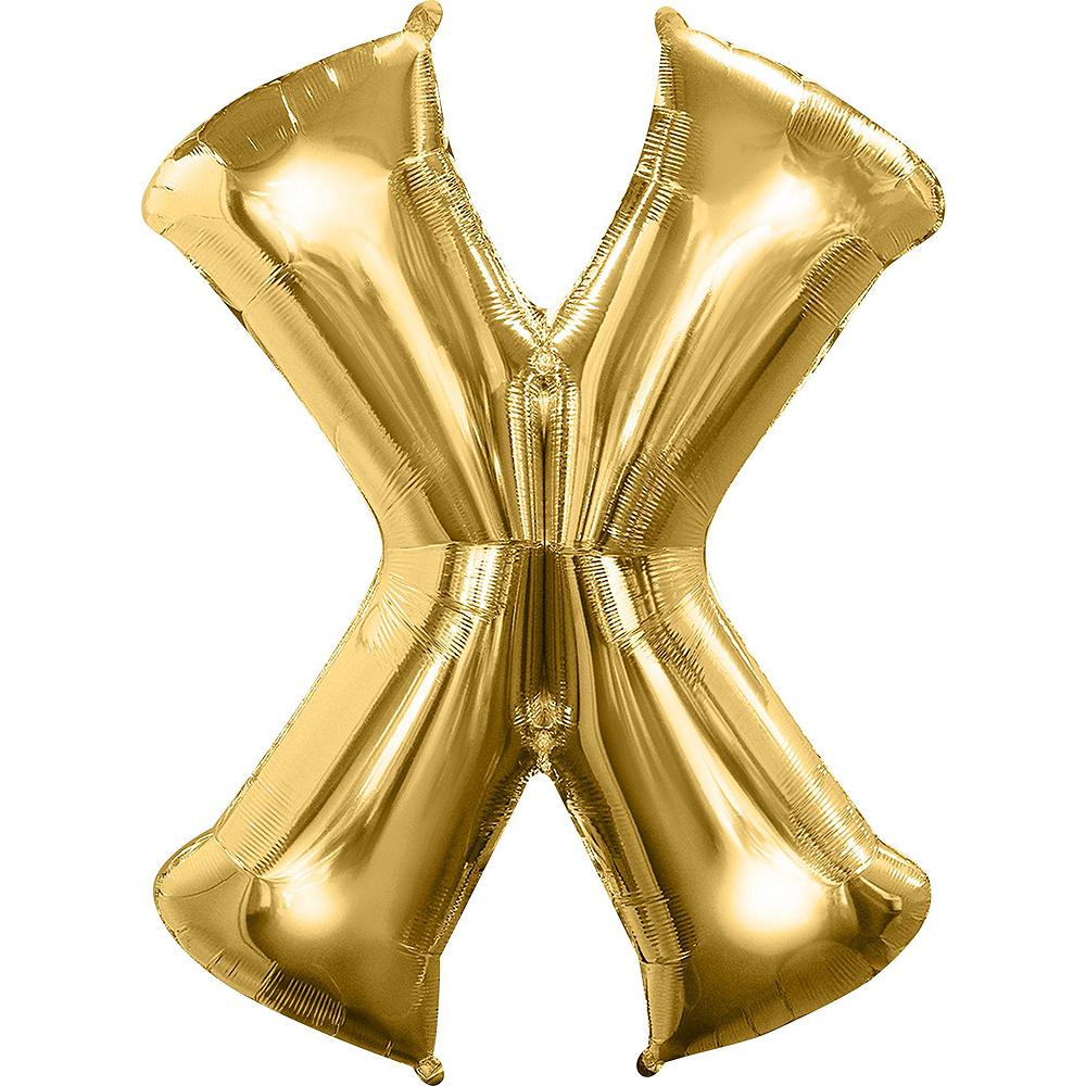 Giant Gold XOXO Letter Balloon Kit Image #3