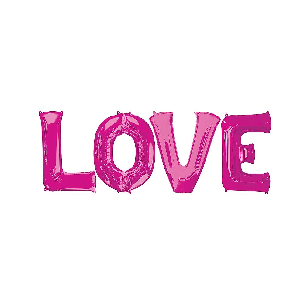 Giant Pink Love Letter Balloon Kit Image #1