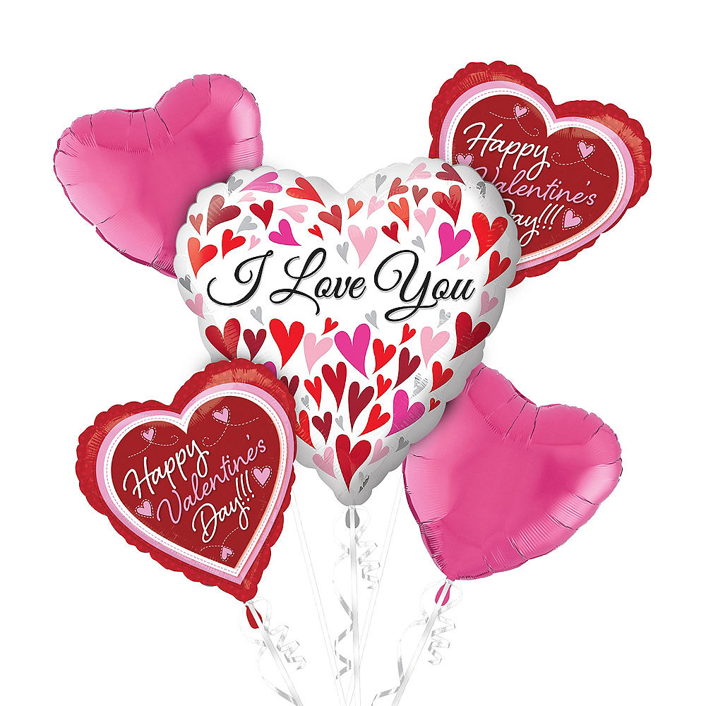 Pink & Red Heart Valentine's Day Balloon Kit Image #1