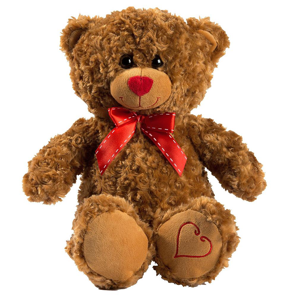 Red Heart Balloons & Brown Teddy Bear Plush Kit Image #2