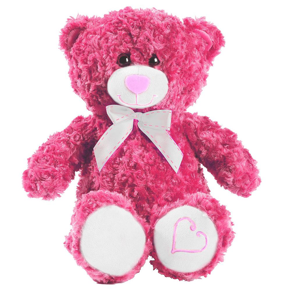 Red Heart Balloons & Pink Teddy Bear Plush Kit Image #2