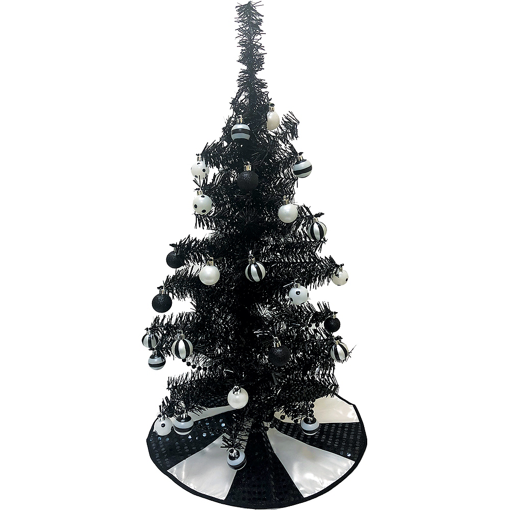 black white tree skirt image 2