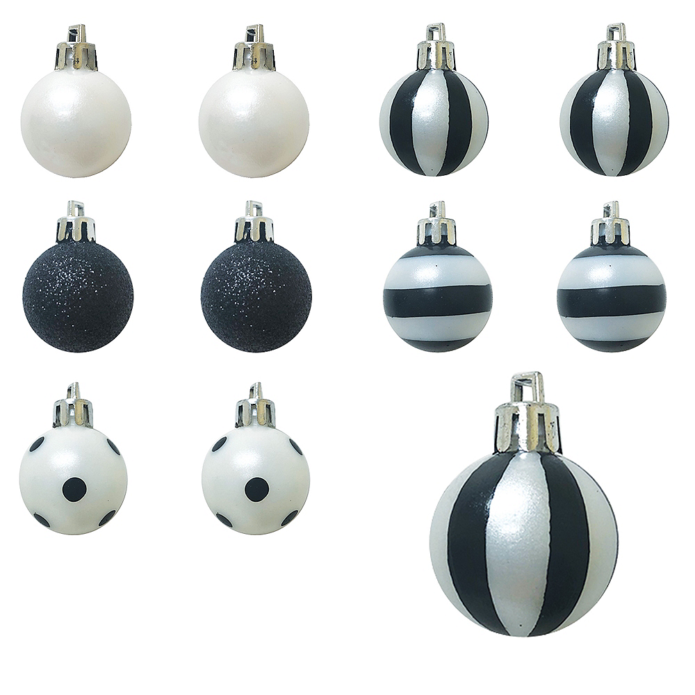 Black & White Halloween Ornaments 25ct Image #1